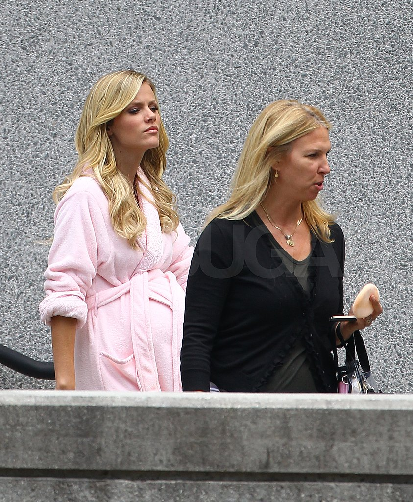 Brooklyn Decker let her blond locks down on set.