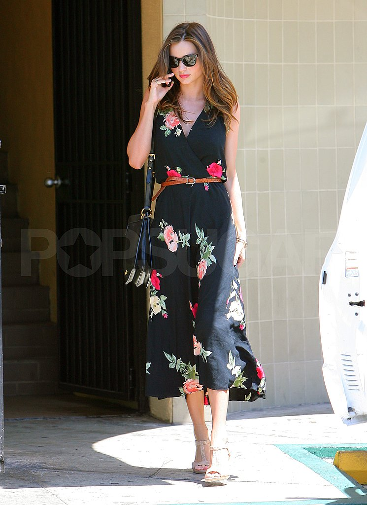 Miranda Kerr stopped by a nail salon.