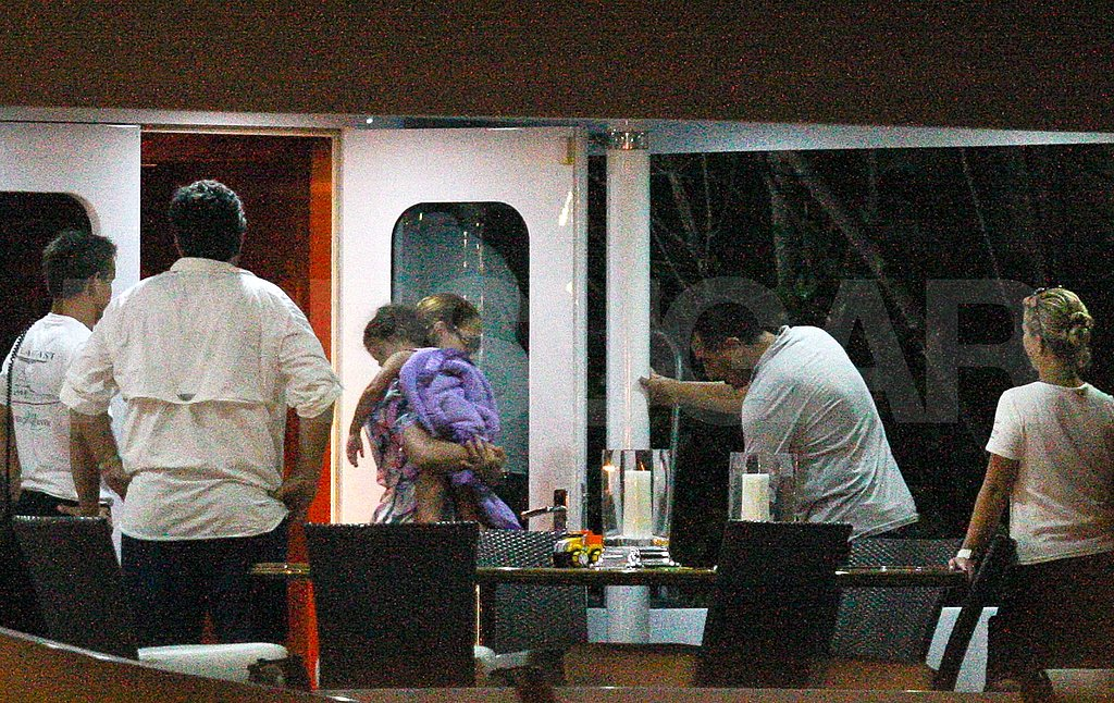 Jennifer Lopez on a boat with daughter Emme Anthony.