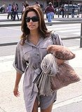 Eva Longoria headed to the airport.