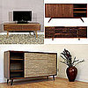 Retro Credenzas For Media Storage