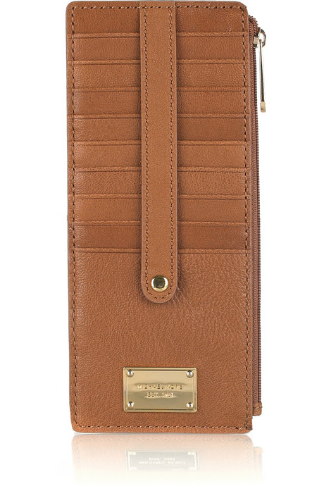 MICHAEL Michael Kors Jet Set Textured-Leather Wallet ($78)