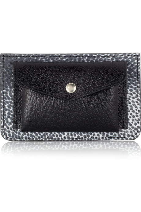 Maison Martin Margiela Animal-Print Leather Wallet ($210)