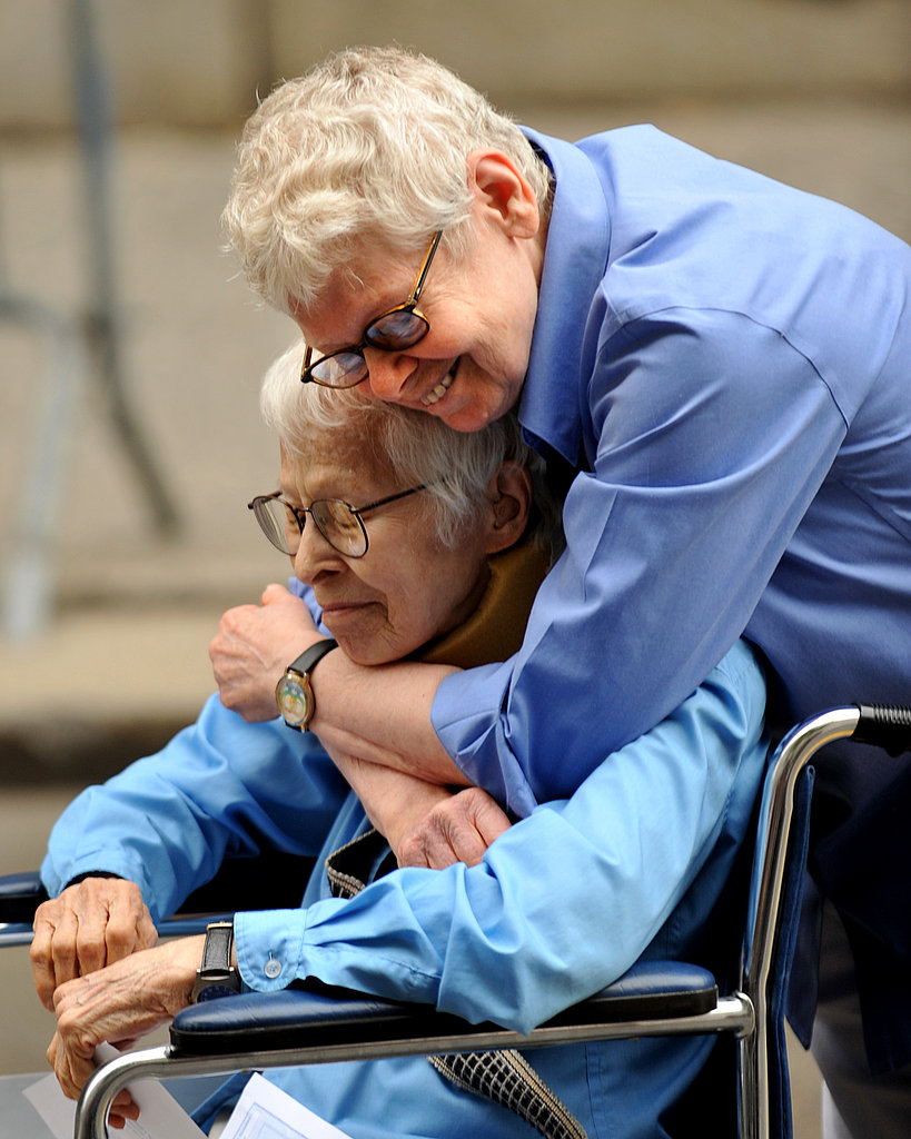 Phyllis Siegel and Connie Kopelov are the first same-sex couple to marry in New York.