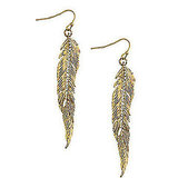 Anna & Ava Crystal-Accented Leaf Drop Earrings, $16
