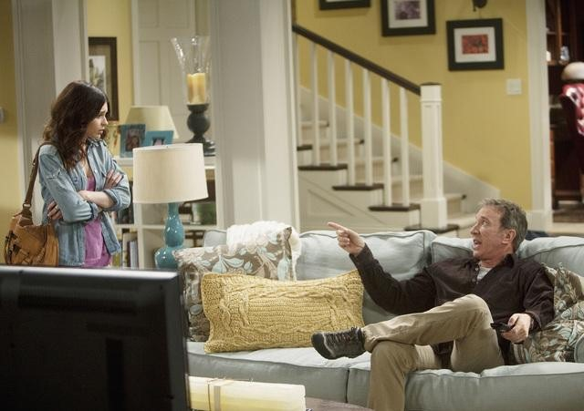 Alexandra Krosney and Tim Allen in ABC's Last Man Standing.  Photo copyright 2011 ABC, Inc.