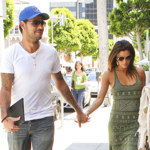Eva Longoria and Eduardo Cruz at Villa Blanca Pictures