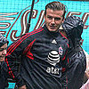 David Beckham MLS All-Star Practice Pictures