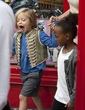 Shiloh Jolie-Pitt and Zahara Jolie Pitt buy toys in London.