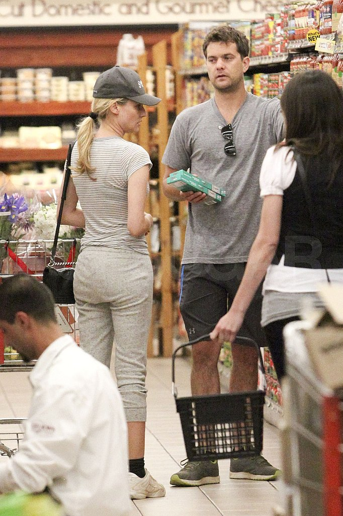 Diane Kruger and Joshua Jackson browsing at Whole Foods.
