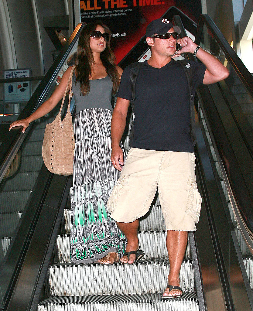 Nick Lachey and Vanessa Minnillo at LAX.