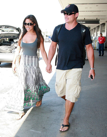 Nick Lachey and Vanessa Minnillo fresh from their St. Bart's honeymoon.