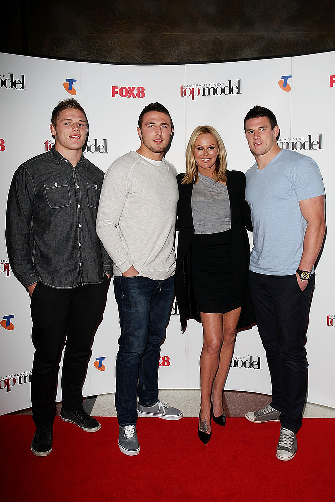 George Burgess, Sam Burgess, Charlotte Dawson and Luke Burgess