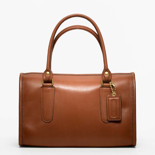 Coach Classic Leather Madison Satchel in British Tan, $358