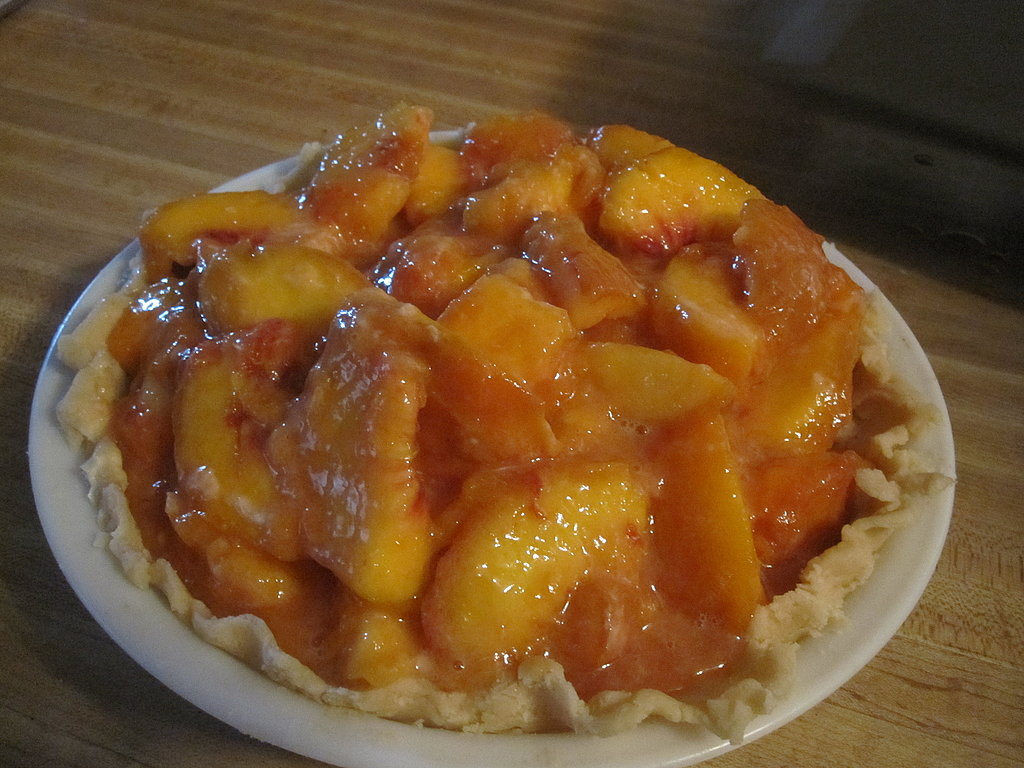 Peach Pie With Crumb Topping