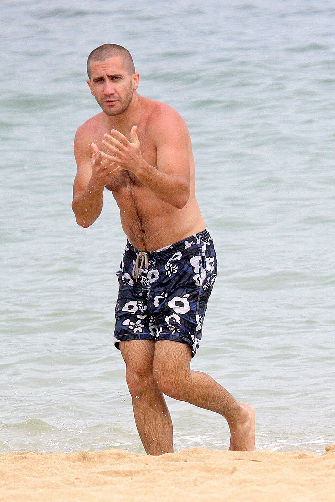 Jake Gyllenhaal stepped onto the sand.