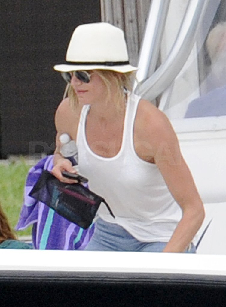 Cameron Diaz wore boating gear for an afternoon on the water.