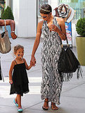 Halle Berry and Nahla Aubry strolled by the shops.