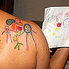Kids Artwork Tattooed on Moms