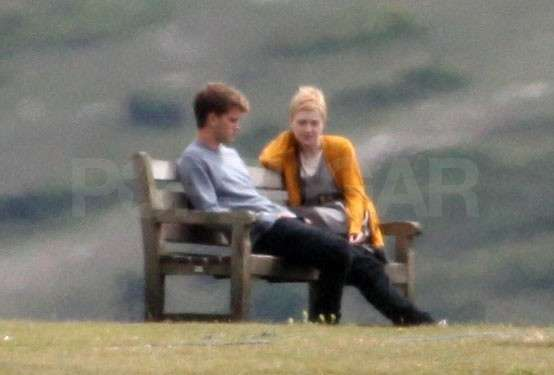 Dakota Fanning donned a gold sweater for her scene with Jeremy Irvine.