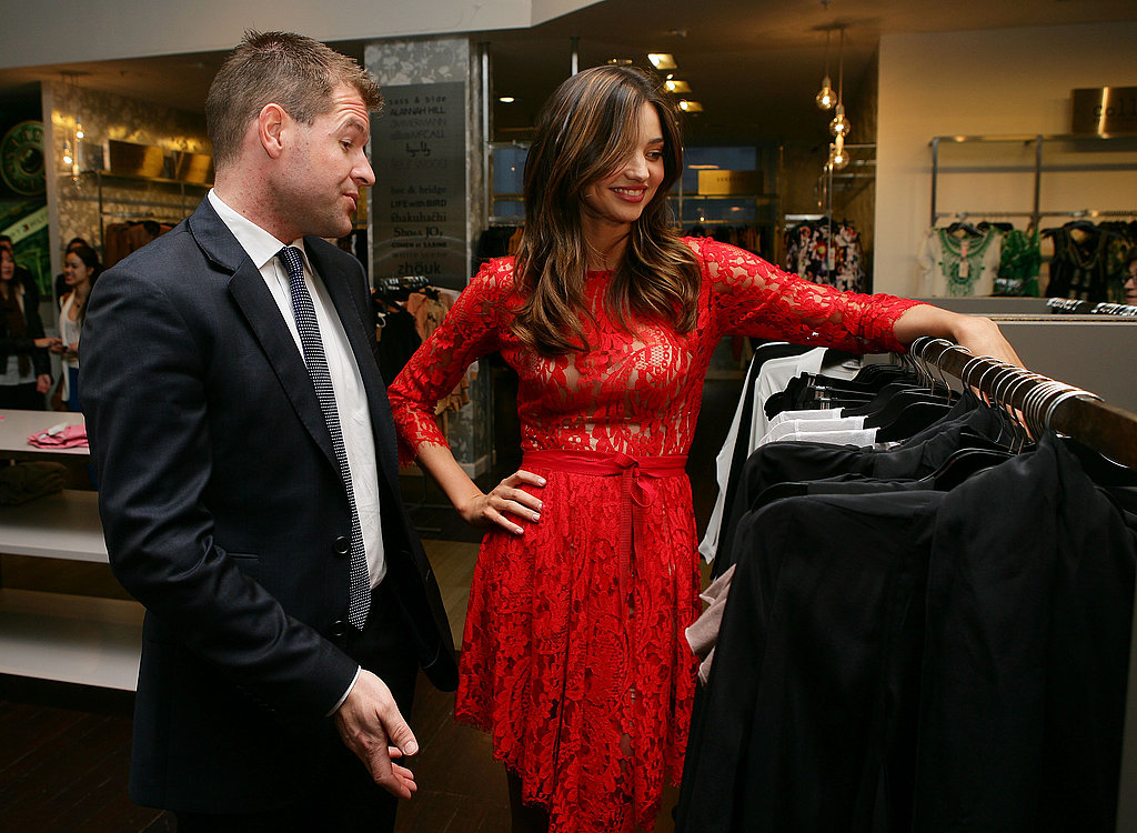 Miranda Kerr and Sacha Laing browse David Jones.