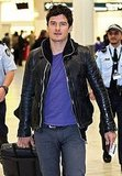 Orlando Bloom flew solo to Sydney.