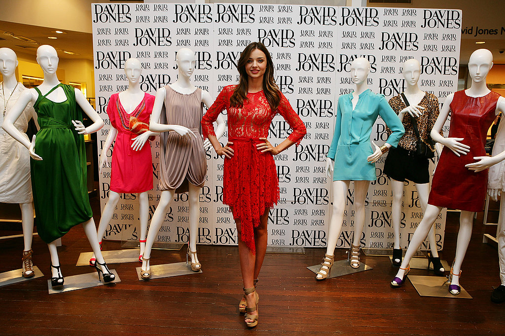 Miranda Kerr models for David Jones.
