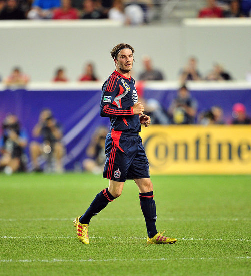 David Beckham plays with the MLS All Stars.