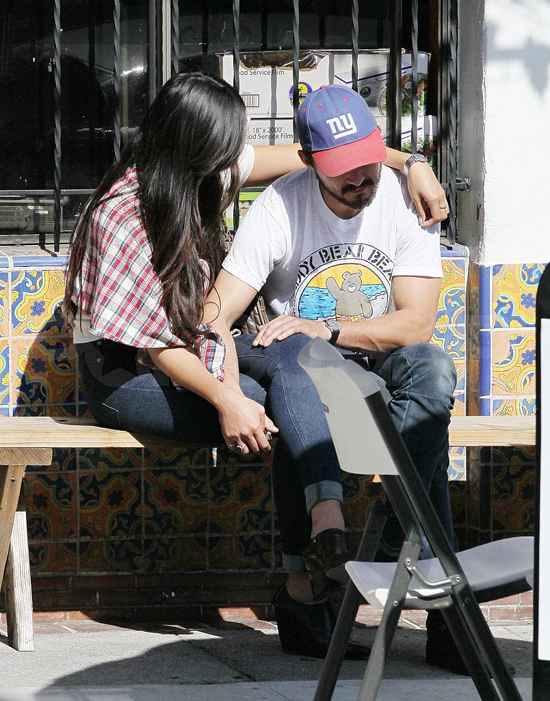 Shia LaBeouf and Karolyn Pho show PDA.