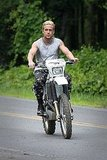 Ryan Gosling shoots The Place Beyond the Pines.