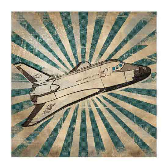 Retro Shuttle Space Print ($4.50)