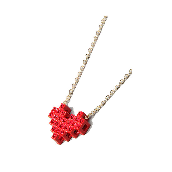Pixelated Heart Necklace ($20)