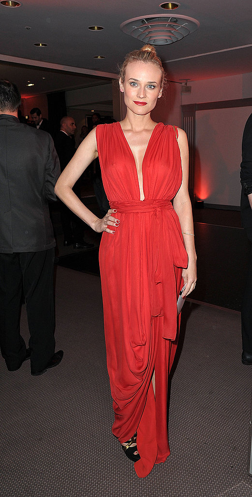 Celebrities Wearing Red