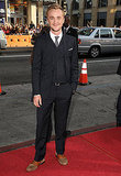 Tom Felton arrived for the premiere.