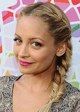 Nicole Richie wide a side-braid.