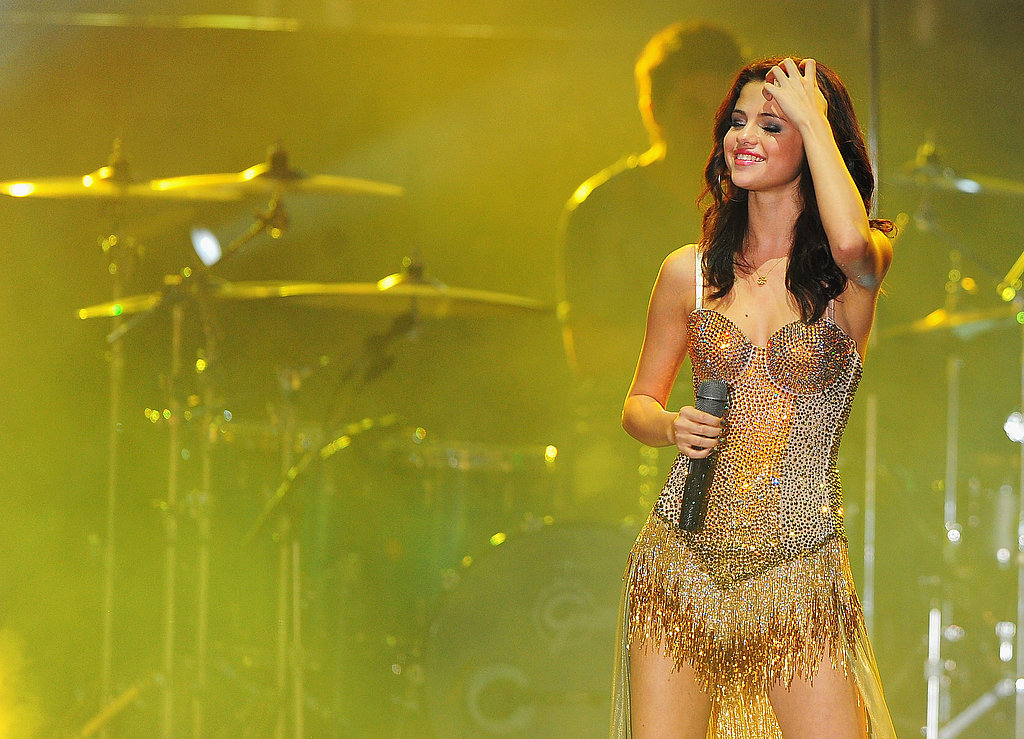 Selena Gomez on stage in Florida.