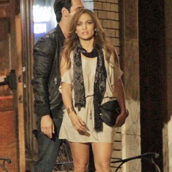 Jennifer Lopez was joined on set by a handsome costar.