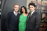 Tom Felton, Freida Pinto, and James Franco posed together.