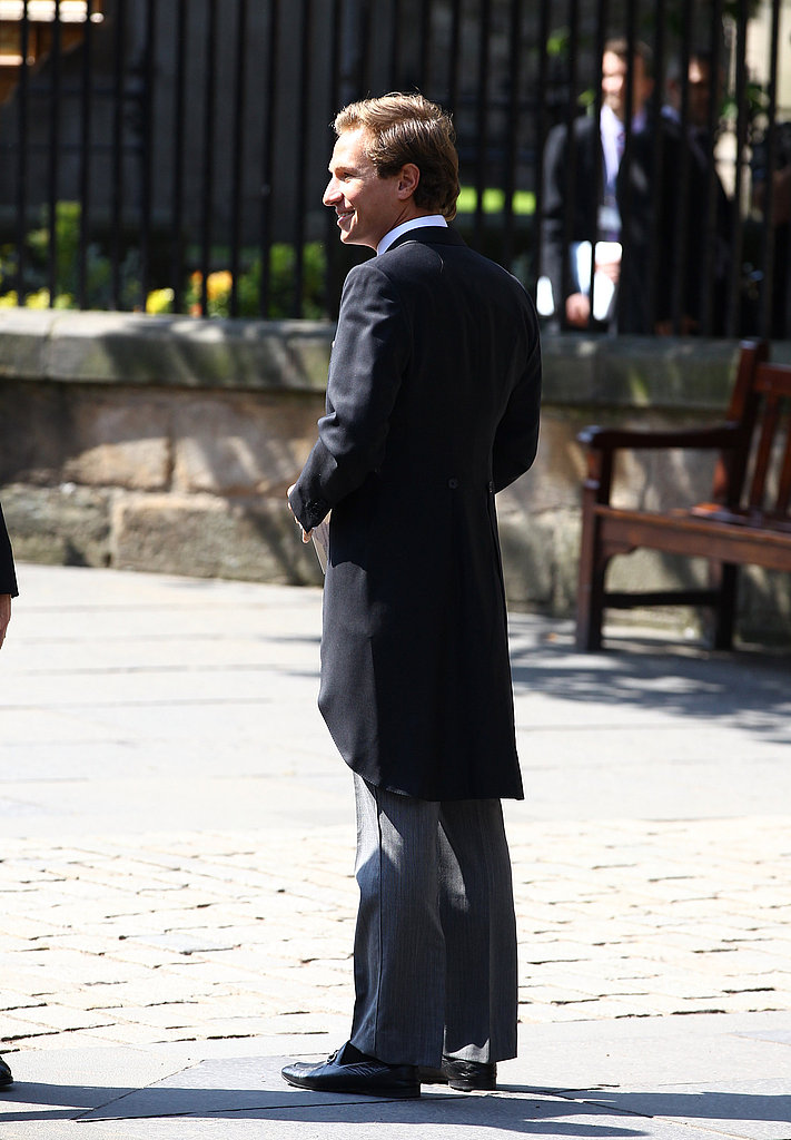 Princess Beatrice's boyfriend Dave Clark outside Zara Phillips and Mike Tindall's wedding.