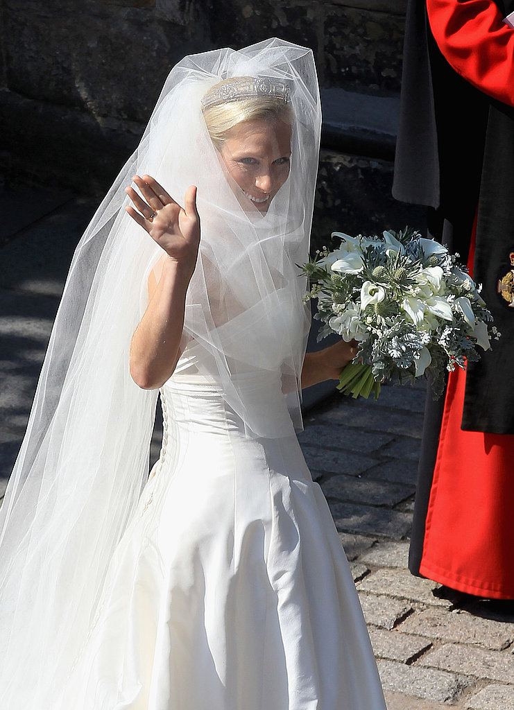 Zara Phillips in a Stewart Parvin wedding gown.