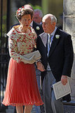 Princess Anne attends the wedding of her only daughter, Zara Phillips.
