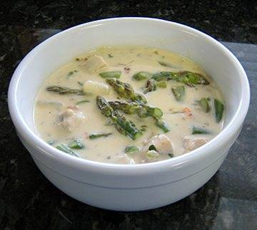Chicken Recipes - Chicken and Asparagus Chowder