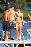 Miley Cyrus wears a bikini in Michigan.