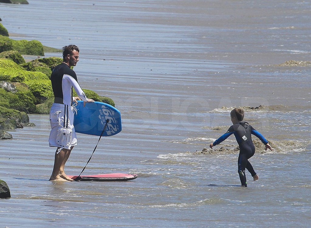 Cruz chased after his boogie board.