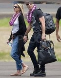 Jennifer Aniston and Justin Theroux on vacation.