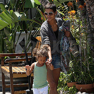 Halle Berry Pictures in Malibu With Nahla Aubry