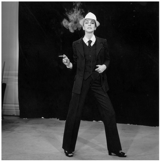 The Le Smoking tuxedo suit made its indelible mark on the world by 1966; thus, the borrowed-from-the-boys look became a signature styling go-to for cool girls everywhere.