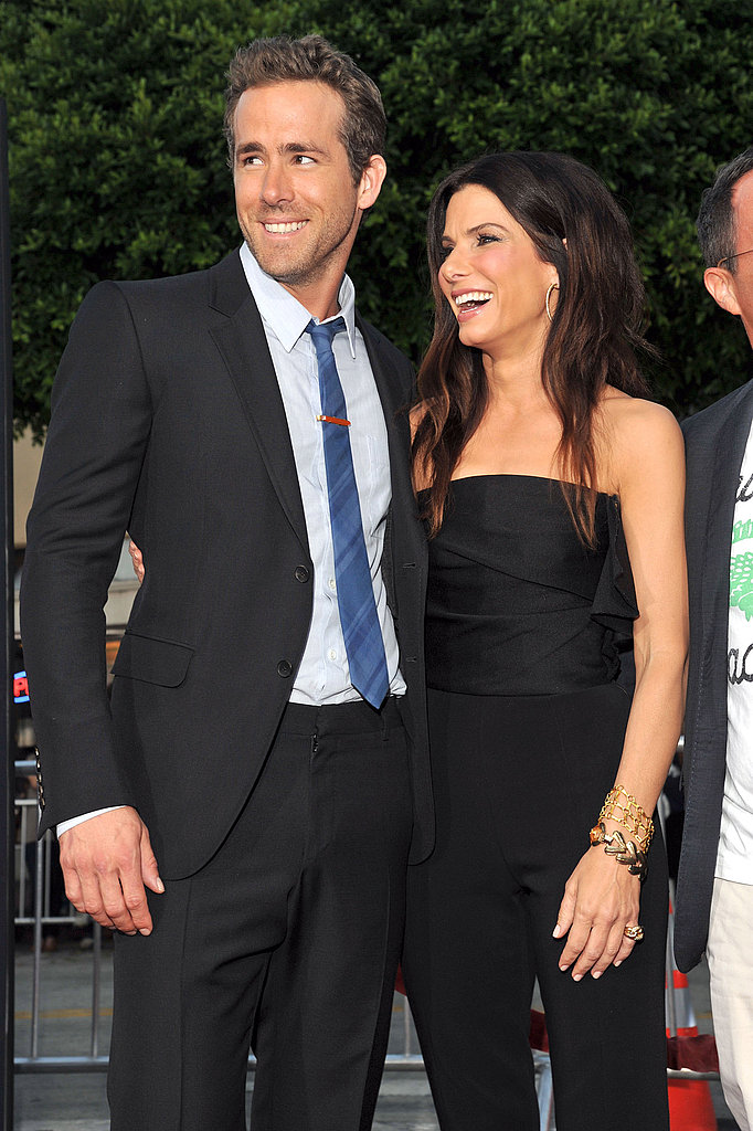 Ryan Reynolds with Sandra Bullock at The Change-Up premiere.