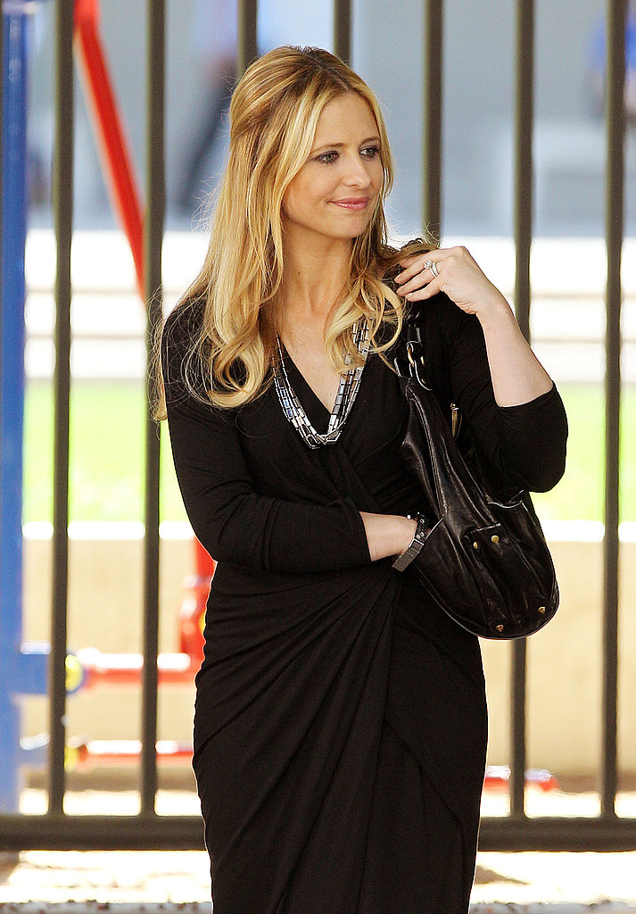 Sarah Michelle Gellar was at work on Ringer.