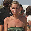Kate Moss Wearing a Fringed Dress in St. Tropez Pictures